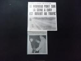 Coupure de presse Offre PROMO voir description Le Nouveau pont sur la Seine a Evry est Ouvert au Trafic