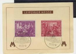 DDR Michel No. 248 - 249 gestempelt auf Karte Messe  / unten eingerissen ca. 6mm