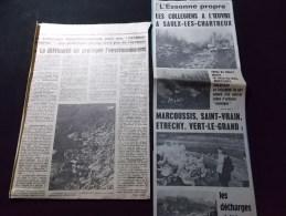 Coupure de presse Offre PROMO voir description Saulx les Chartreux Les Collegiens � l'Oeuvre Venus de Chilly, Massy ...