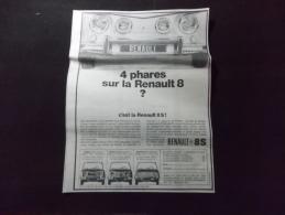 Coupure de presse Offre PROMO voir description Renault 8 S Pub 1969
