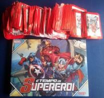 M#0L25 Album CARDS E´ TEMPO DI SUPEREROI MARVEL COOP + 117 BUSTINE FIGURINE SIGILLATE - Marvel