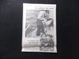 Coupure de presse Offre PROMO voir description Le Solitaire n est pas tout seul Bernard Moitessier