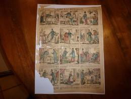 Vers 1900       Imagerie D'Epinal  N° 449    L'AVARE & LE BIENFAISANT.           Pellerin & Cie - Vieux Papiers