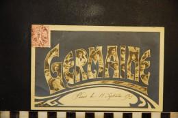 CP, Prénoms, GERMAINE Portraits De Femme Dans Les Lettres 1905 - Prénoms
