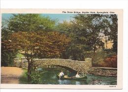 25512 The Stone Bridge, Snyder Park, Springfield, Ohio -54263 N -colorisée - Etats-Unis