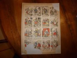 Vers 1900       Imagerie D'Epinal  N° 669   LA VRAIE ET LA FAUSSE CHARITE          Pellerin & Cie - Vieux Papiers