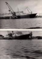 Photo Originale Bateau - Paquebot  au port � identifier - Photo Allemande -