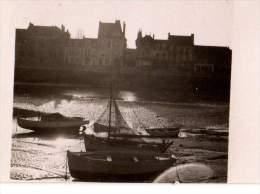 Photo Originale Bateau - Splendide coucher de ssoleil sur le port - Barques en bois, voilier,