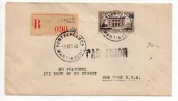 1945 - ENVELOPPE RECOMMANDEE De FORT DE FRANCE (MARTINIQUE) Pour Les USA Avec SEUL - Martinica (1886-1947)
