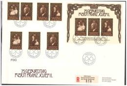 Liechtenstein 1981 FDC 75 Birthday Franz Josef Stamps + S/S - FDC