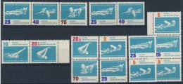Lot DDR ZD Michel No. 907 - 912 /  S Zd 28 , 31 , 32 , 34 W Zd 49 , 50 , 53 ** postfrisch
