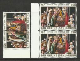 1990 San Marino Saint Marin NATALE  CHRISTMAS 3 Serie Di 2v. MNH** Coppia - Natale