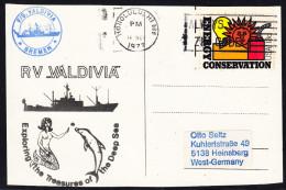 """GERMANY, Forschungs-Schiff """" RV VALDIVIA"""", 18.NOV 1977 Honolulu,Cachet Auf Schiffs-Karte !! Look Scan !! 23.11-05 - Maritiem"""