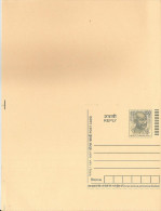 India 2007 Mint, Unused Mahatma Gandhi 50P Postcard, Post Card With Reply Postcard, Postal Stationery - Enteros Postales
