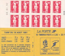 Carnet Non Plié - TYPE MARIANNE De BRIAT - Albertville 92 - Non Dentelé Adhésif - Nr 2720-C1 - Année 1991, Neuf** / 6554 - Markenheftchen
