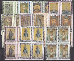 PGL BT152 - VATICANO SASSONE N°564/74 **  QUARTINE - Vatican