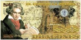 Colombia 50 Dragones,  Beethoven - 2013 Fantaisie - Banknoten