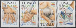 Specimen, Tuvalu Sc612-5 1992 Barcelona Olympics, Jeux Olympiques - Summer 1992: Barcelona