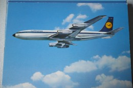 AIRLINES ISSUE / CARTE COMPAGNIE         LUFTHANSA   B 707   D ABOS - 1946-....: Era Moderna