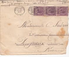 1928 LETTRE. STAITS SETTLEMENTS. SINGAPORE.  POUR LA  FRANCE. PÂTISSIER A BORD St JACQUES CHARGEURS RÉUNIS SAIGON / 7038 - Straits Settlements