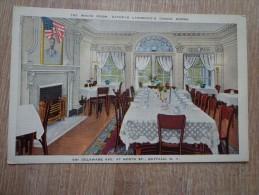 CPA ILLUSTREE NEW YORK THE WHITE ROOM KATHRYN LAWRENCE'S DINING ROOMS DELAWARE AVENUE - Cafés, Hôtels & Restaurants