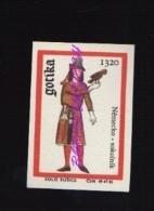 11-165 CZECHOSLOVAKIA 1969 Germany Falconer  Falconer   Gothic Fashion Mode La Moda Gotica - Boites D'allumettes - Etiquettes