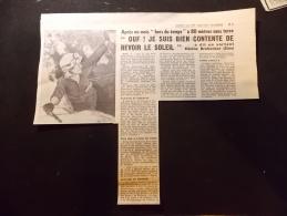 Coupure de Presse PROMO voir description 80 m�tres sous Terre H�l�ne Brobecker  Speleologie Massif de L Audibergue 1969