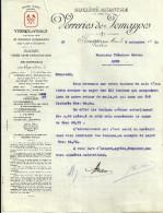 JEMAPPES Pres MONS  VERRERIES De JEMAPPES  Verres A Vitres De Grandes Dimensions  9.11.1920 - 1900 – 1949