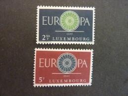 LUXEMBOURG, Année 1960, YT N° 587 Et 588 Neufs, Très Légère Trace Charnière - Luxembourg