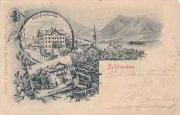 AK Schliersee Gasthof Zur Seerose Bpst. Gel. 24.6.01 - Schliersee