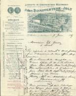 SAINT GHISLAIN  JULES BONAVENTURE JOLY  Ateliers De Constructions Mecaniques Chaudronnerie En Fer...   7.06.1915 - Bélgica
