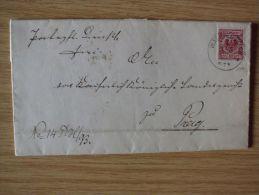 1893, AUSLANDS-AMTSGERICHTSBRIEF Von WÄCHTERSBACH NACH PRAG - Oficial