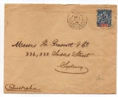 1905 - ENVELOPPE De NOUMEA (NOUVELLE CALEDONIE ET DEPENDANCES) Pour L'AUSTRALIE - Nieuw-Caledonië
