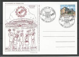 CARTE COMMEMORATIVE 49e JOURNEE DU TIMBRE RODANGE TP N° 1251 (CACHET POSTAL DE RODANGE) (SCAN VERSO) - Cartes Commémoratives