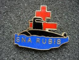 PIN´S SNA RUBIS, SOUS MARIN, CROIX DE LORRAINE, EGF - Boten
