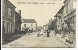 Carte Postale : Saint Père Sous Vézelay -    Rue Du Pont -  Épicerie - Vezelay