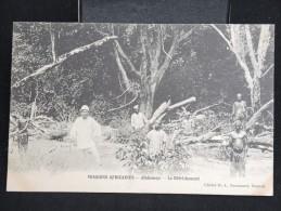"DAHOMEY- CP "" Missions Africaines : Le Défrichement "" - Lot N° 10056 - Dahomey"