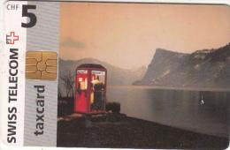 SWITZERLAND - Phone Booth 5 CHF, chip GEM2.3, 01/97, used