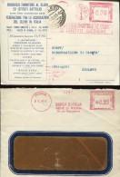 1937 Italia,  2 Red Meter Ema Freistempel 1933+1940 Roma, Circuled On Cover - Affrancature Meccaniche Rosse (EMA)