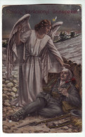 CP440 Frohe Weihnachten Cc 1915 Merry Christmas Engel Und Soldaten - Altri
