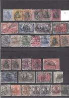 Allemagne  Deutches Reich Série N°70 à 103 Oblitérés  1902/1919 - Deutschland