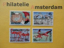 Netherlands Antilles 1985, FAUNA BIRDS OISEAUX VOGELS VÖGEL AVES: Mi 545-48, **
