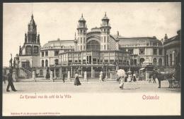 Oostende Ostende - Le Kursaal Vue Du Coté De La Ville (2 Scans) - Oostende