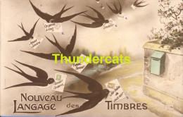 CPA NOUVEAU LANGAGE DES TIMBRES - Timbres (représentations)
