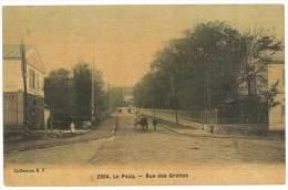 Le Pecq - Rue Des Grottes ( Colorisée, Cp Toilée ) - Le Pecq