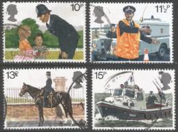 Great Britain. 1979 150th Anniv Of Metropolitan Police. Used Complete Set. SG 1100-1103 - 1952-.... (Elizabeth II)