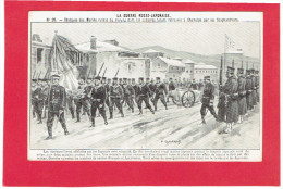 GUERRE RUSSIE JAPON 1904 1905 OBSEQUES DES MARINS RUSSES DU VARYAG TROUVES A CHEMULPO PAR LES SCAPHANDRIERS - Altre Guerre