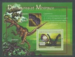 Guinée BF  N° 567 XX Faune Préhistorique  : Dinosaures Et  Minéraux  ( I ),  Le Bloc Sans Ch. TB - Guinea (1958-...)