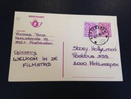 Briefkaart Met Sterstempel - Marcophilie