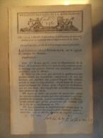 Bulletin Des Lois N°131 An X Pour Un Entrepot Des Tabacs A Bordeaux Uniforme Des Employes Des Douanes - Décrets & Lois